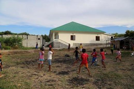Foto van het kindertehuis op Sumba Indonesië