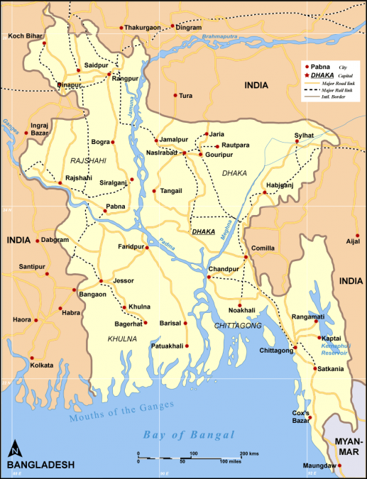 bron landkaart Bangladesh http://gabisworld.com/bangladesh/