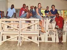 foto van het zomerproject 2017 in Guinea Le Dauphin