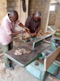 De werkplaats bij Bokemei Ghana is weer in bedrijf